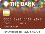 red credit card with... | Shutterstock .eps vector #227676775