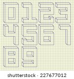 numbers set. vector... | Shutterstock .eps vector #227677012