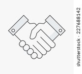 business handshake. line vector ... | Shutterstock .eps vector #227688142