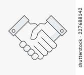 business handshake. line vector ... | Shutterstock .eps vector #227688142
