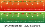 holly christmas and new year... | Shutterstock .eps vector #227688496
