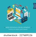 web design  development ...   Shutterstock .eps vector #227689126