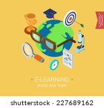 e learning online global... | Shutterstock .eps vector #227689162