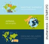 flat logistics concept of... | Shutterstock .eps vector #227689192