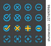 vector colorful confirm icons... | Shutterstock .eps vector #227690986
