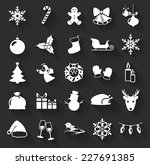 christmas and new year flat... | Shutterstock .eps vector #227691385