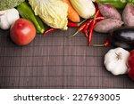 chillies garlic tomato cabbage... | Shutterstock . vector #227693005