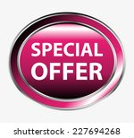 special offer round button  | Shutterstock .eps vector #227694268
