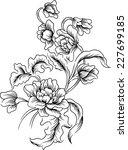 line of floral background.... | Shutterstock .eps vector #227699185