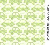 light green eco car seamless... | Shutterstock .eps vector #227701042