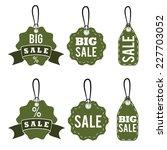 set of sale tags vector design... | Shutterstock .eps vector #227703052