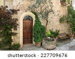front door of a beautiful and... | Shutterstock . vector #227709676