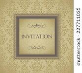 vintage frame on seamless... | Shutterstock .eps vector #227711035
