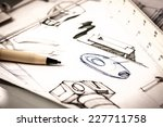 idea sketch of product design | Shutterstock . vector #227711758