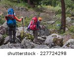 hikers in altai mountains ... | Shutterstock . vector #227724298