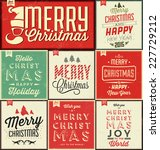 vintage christmas typographic... | Shutterstock .eps vector #227729212