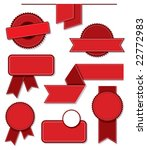 a set of blank vector labels. | Shutterstock .eps vector #22772983