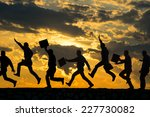 businessman silhouette   Shutterstock . vector #227730082