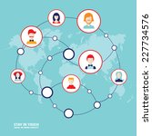 social network concept. people... | Shutterstock .eps vector #227734576