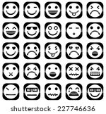 vector icons of smiley faces | Shutterstock .eps vector #227746636