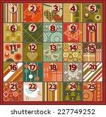 advent calendar | Shutterstock .eps vector #227749252