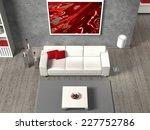 modern 3d living room interior... | Shutterstock . vector #227752786