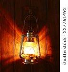 Lantern Hanging On Hook On...