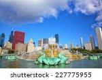 Chicago Skyline And Buckingham...