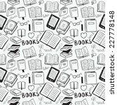 books doodles seamless...   Shutterstock .eps vector #227778148