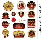 anniversary golden label | Shutterstock .eps vector #227785522
