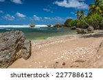 Rugged Beach With Distinctive...
