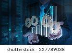 businessman hand working with...   Shutterstock . vector #227789038
