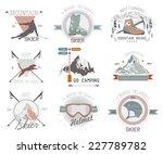 ski sport logo icon template.... | Shutterstock .eps vector #227789782