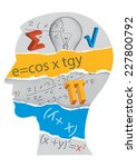 mathematics student silhouette. ... | Shutterstock .eps vector #227800792