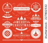 christmas decoration vector... | Shutterstock .eps vector #227802532