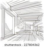 sketch of interior | Shutterstock .eps vector #227804362