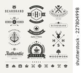 retro vintage insignias or... | Shutterstock .eps vector #227804998