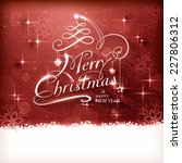 christmas typography background ... | Shutterstock .eps vector #227806312