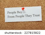 the phrase people buy from... | Shutterstock . vector #227815822