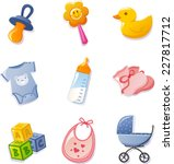 baby elements collection. with... | Shutterstock .eps vector #227817712