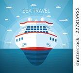 Sea Or Ocean Cruise Vector...