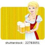 vector oktoberfest girl | Shutterstock .eps vector #22783051
