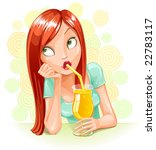 vector drinking and dreaming... | Shutterstock .eps vector #22783117