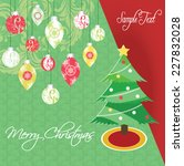 vintage christmas card with... | Shutterstock .eps vector #227832028