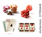 casino design elements with... | Shutterstock .eps vector #227836648