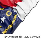 north carolina flag with white | Shutterstock . vector #227839426