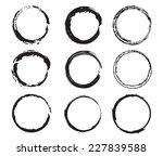 grunge circles set .stock... | Shutterstock .eps vector #227839588