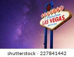 welcome to fabulous las vegas... | Shutterstock . vector #227841442