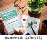digital health insurance... | Shutterstock . vector #227841892