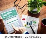 digital health insurance... | Shutterstock . vector #227841892
